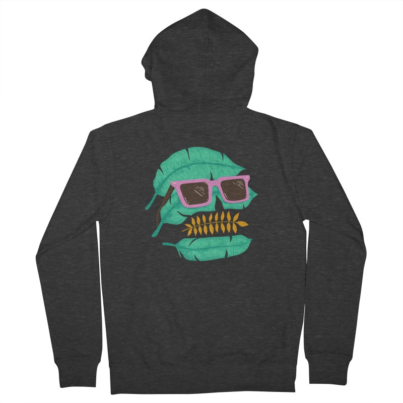 SKULLEAVES Women's Zip-Up Hoody by alchemist's Artist Shop