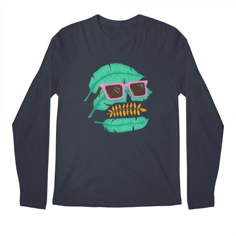 SKULLEAVES Men's Longsleeve T-Shirt by alchemist's Artist Shop