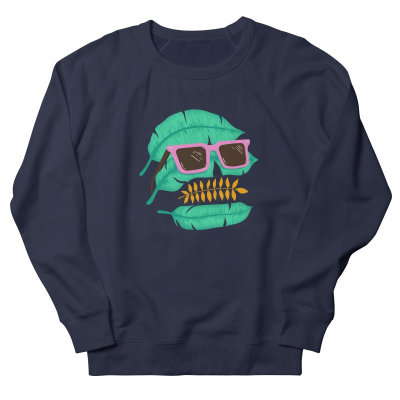SKULLEAVES Women's French Terry Sweatshirt by alchemist's Artist Shop