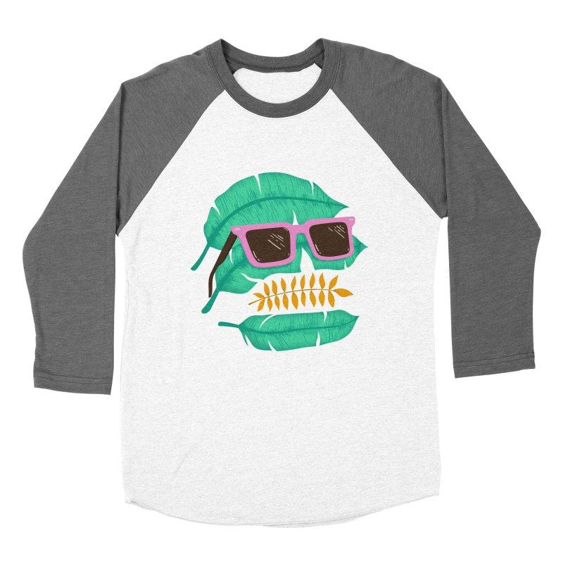 SKULLEAVES Women's Baseball Triblend Longsleeve T-Shirt by alchemist's Artist Shop