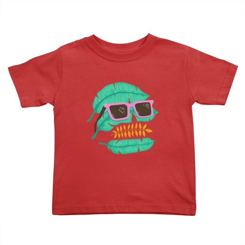 SKULLEAVES Kids Toddler T-Shirt by alchemist's Artist Shop