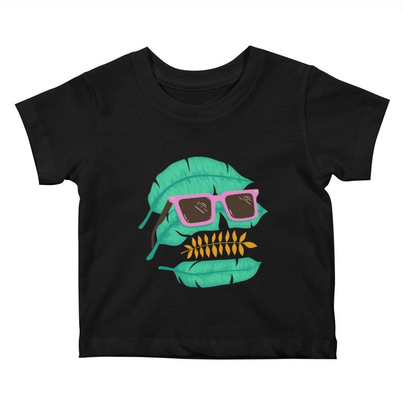 SKULLEAVES Kids Baby T-Shirt by alchemist's Artist Shop