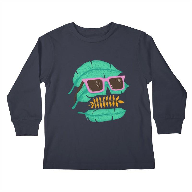 SKULLEAVES Kids Longsleeve T-Shirt by alchemist's Artist Shop