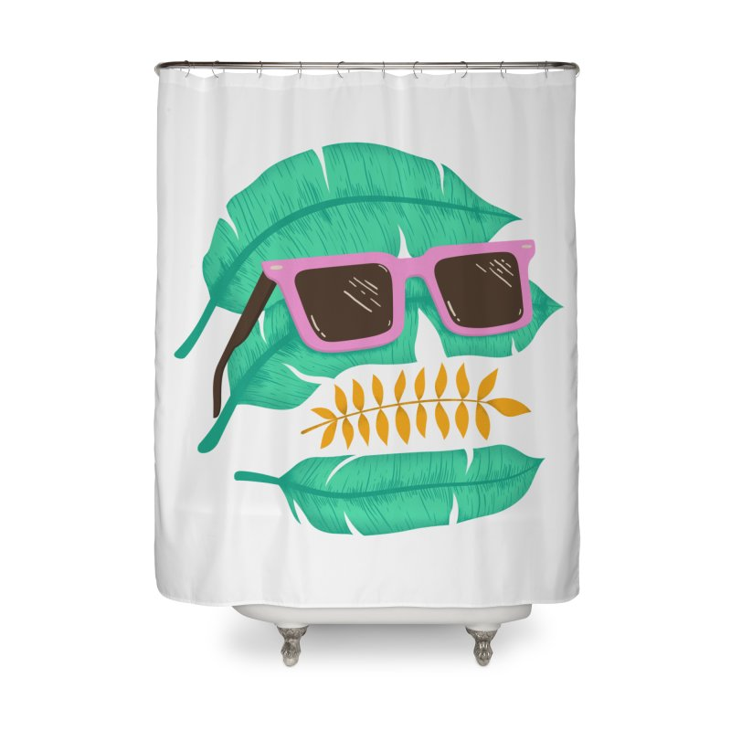 SKULLEAVES Home Shower Curtain by alchemist's Artist Shop