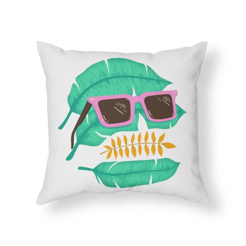 SKULLEAVES Home Throw Pillow by alchemist's Artist Shop