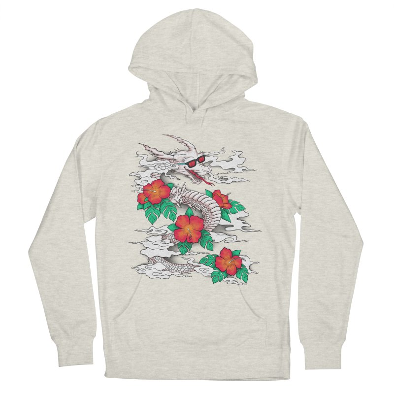 CHILL DRAGON Women's French Terry Pullover Hoody by alchemist's Artist Shop