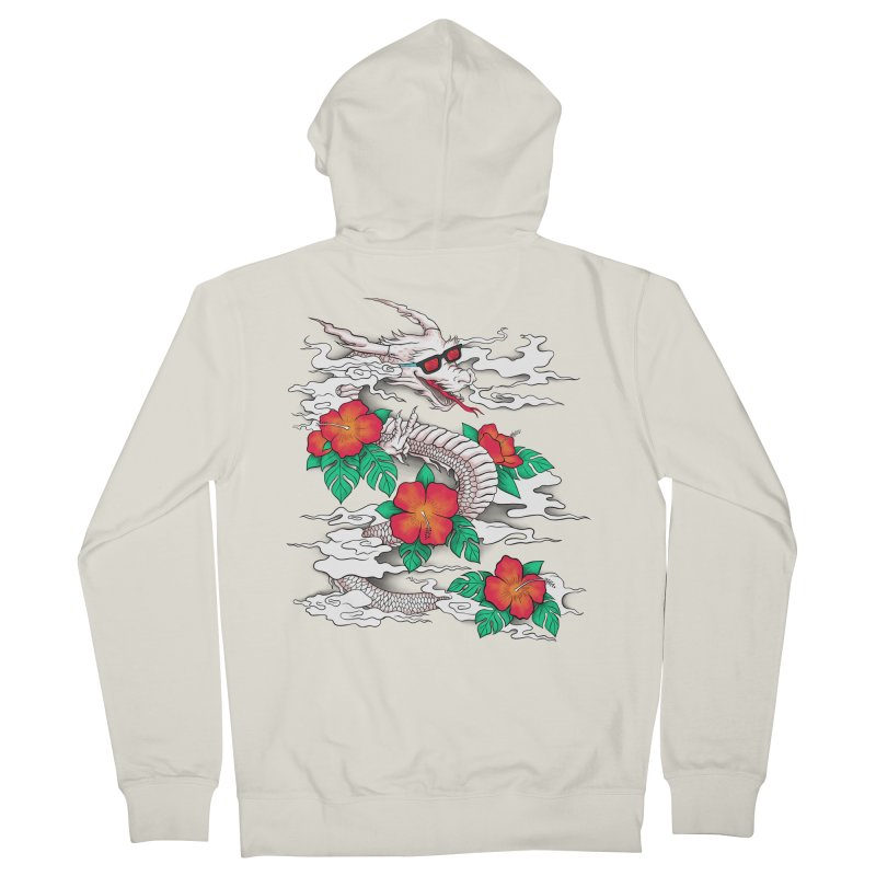 CHILL DRAGON Women's French Terry Zip-Up Hoody by alchemist's Artist Shop