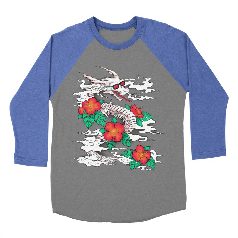 CHILL DRAGON Women's Baseball Triblend Longsleeve T-Shirt by alchemist's Artist Shop