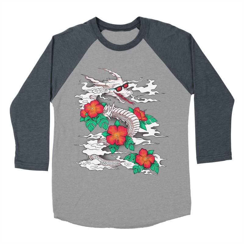 CHILL DRAGON Men's Baseball Triblend Longsleeve T-Shirt by alchemist's Artist Shop