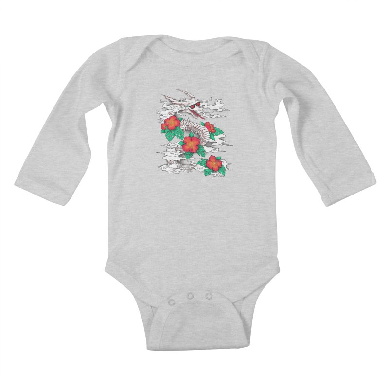 CHILL DRAGON Kids Baby Longsleeve Bodysuit by alchemist's Artist Shop