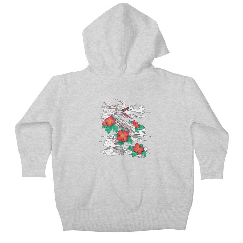 CHILL DRAGON Kids Baby Zip-Up Hoody by alchemist's Artist Shop