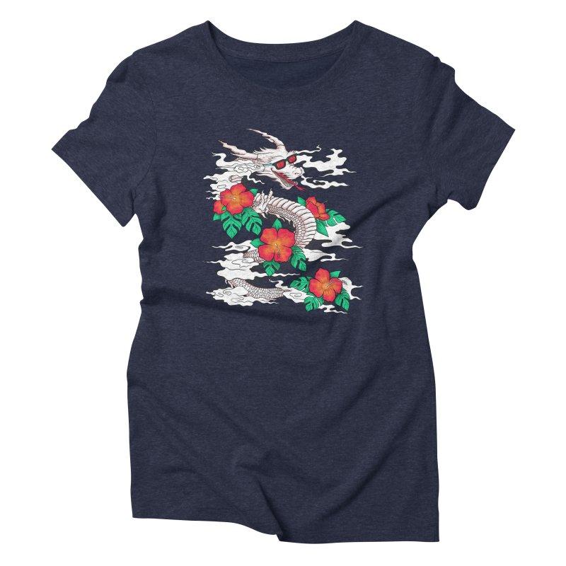 CHILL DRAGON Women's Triblend T-Shirt by alchemist's Artist Shop