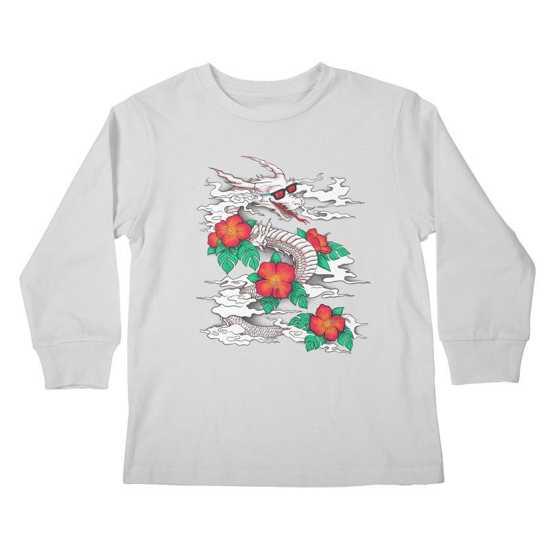 CHILL DRAGON Kids Longsleeve T-Shirt by alchemist's Artist Shop