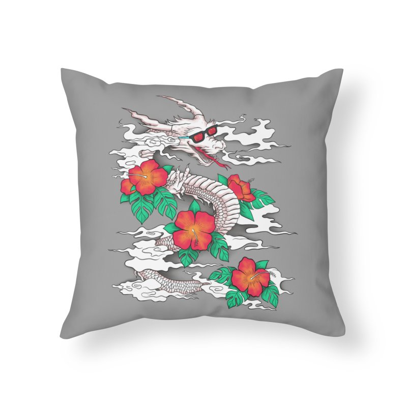 CHILL DRAGON Home Throw Pillow by alchemist's Artist Shop