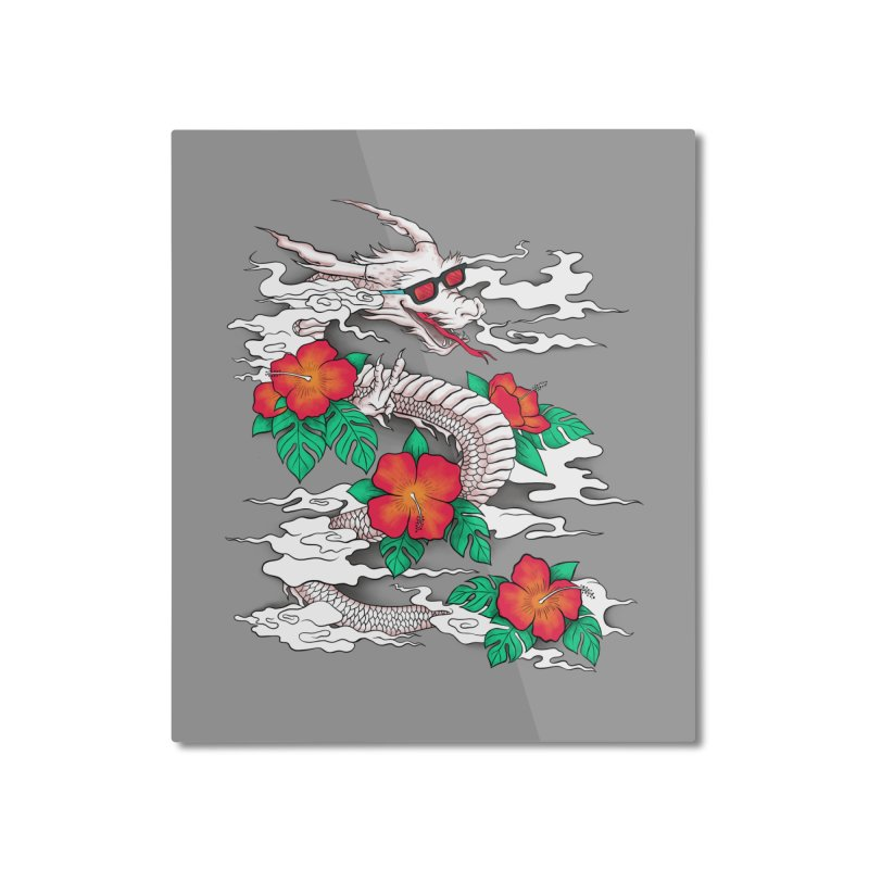CHILL DRAGON Home Mounted Aluminum Print by alchemist's Artist Shop