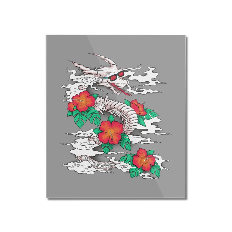 CHILL DRAGON Home Mounted Acrylic Print by alchemist's Artist Shop