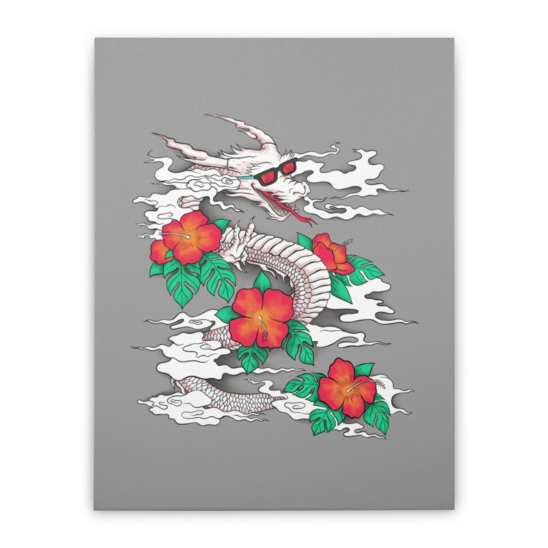 CHILL DRAGON Home Stretched Canvas by alchemist's Artist Shop