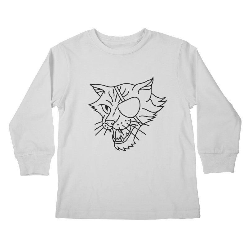 NICK PURRY V. BLACK Kids Longsleeve T-Shirt by alchemist's Artist Shop