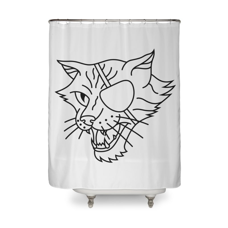 NICK PURRY V. BLACK Home Shower Curtain by alchemist's Artist Shop