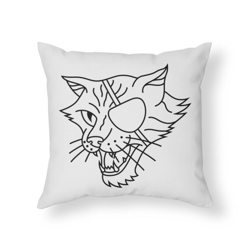 NICK PURRY V. BLACK Home Throw Pillow by alchemist's Artist Shop