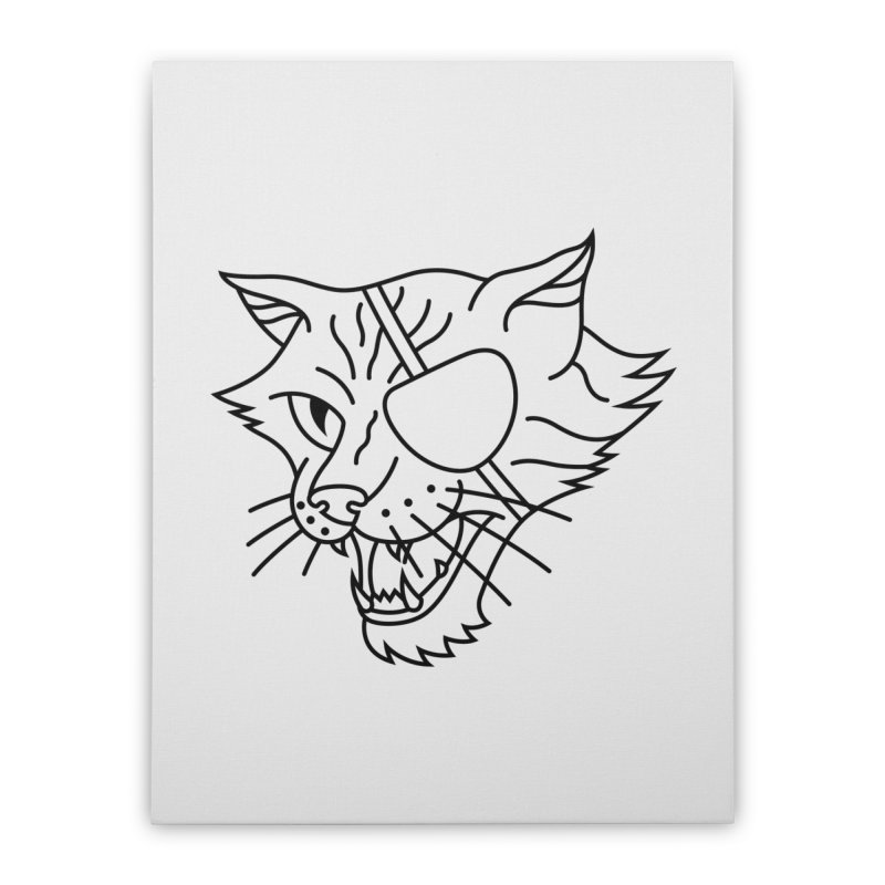 NICK PURRY V. BLACK Home Stretched Canvas by alchemist's Artist Shop