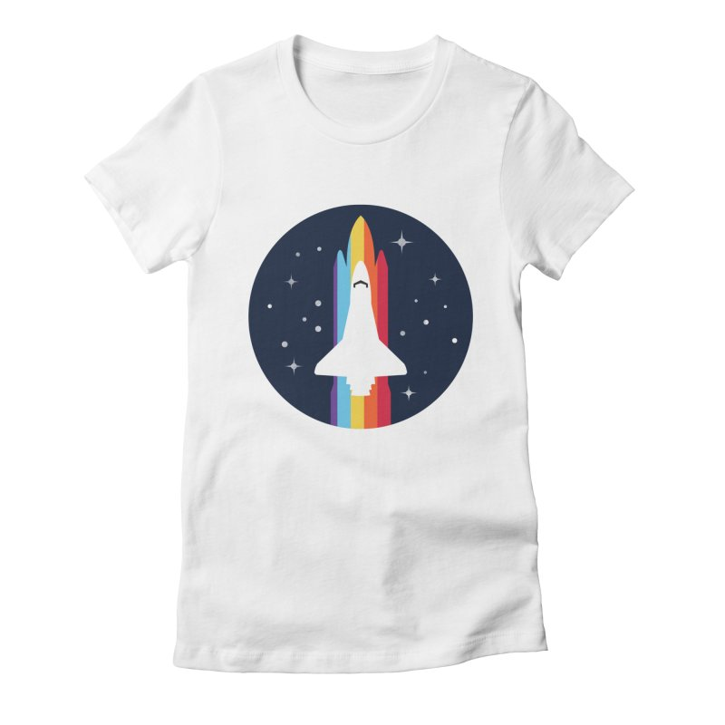 FRONTIER V2 Women's Fitted T-Shirt by alchemist's Artist Shop