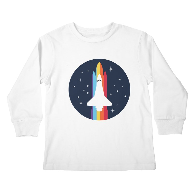 FRONTIER V2 Kids Longsleeve T-Shirt by alchemist's Artist Shop