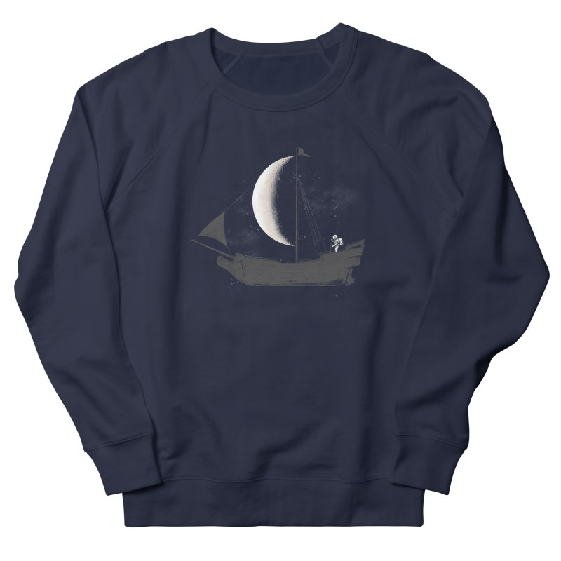 LUNAR VOYAGER Women's French Terry Sweatshirt by alchemist's Artist Shop