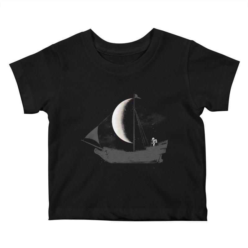 LUNAR VOYAGER Kids Baby T-Shirt by alchemist's Artist Shop