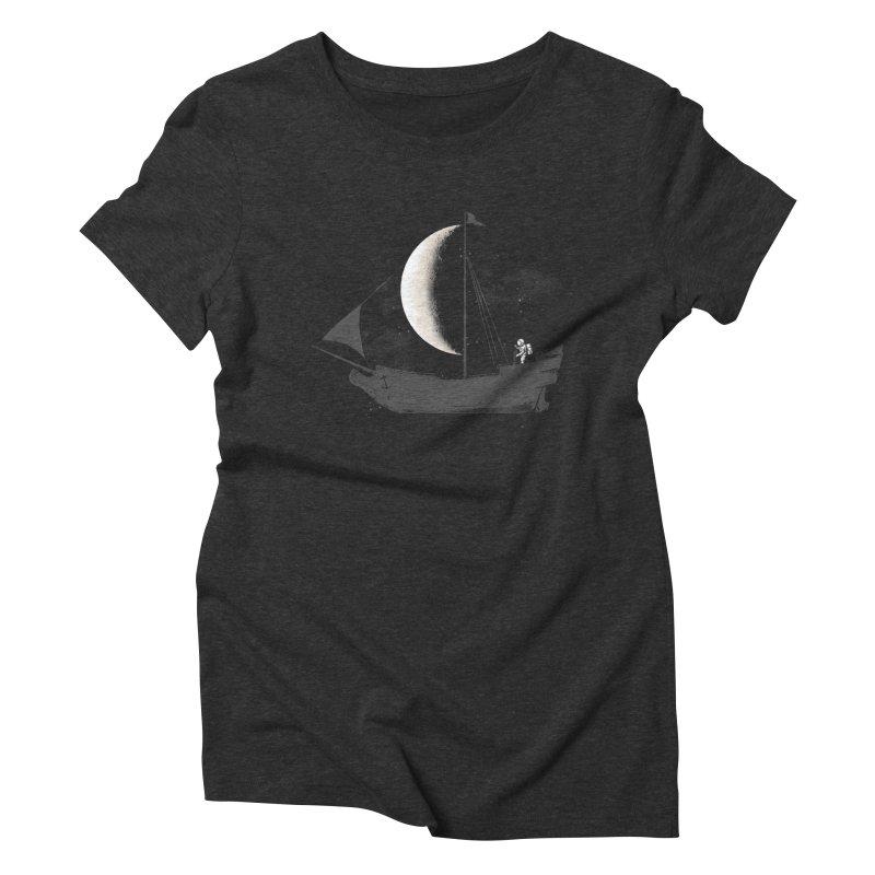 LUNAR VOYAGER Women's Triblend T-Shirt by alchemist's Artist Shop