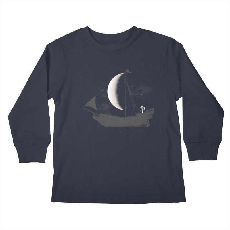LUNAR VOYAGER Kids Longsleeve T-Shirt by alchemist's Artist Shop