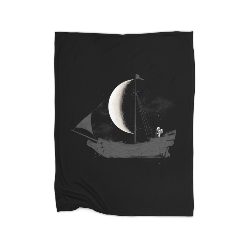 LUNAR VOYAGER Home Blanket by alchemist's Artist Shop