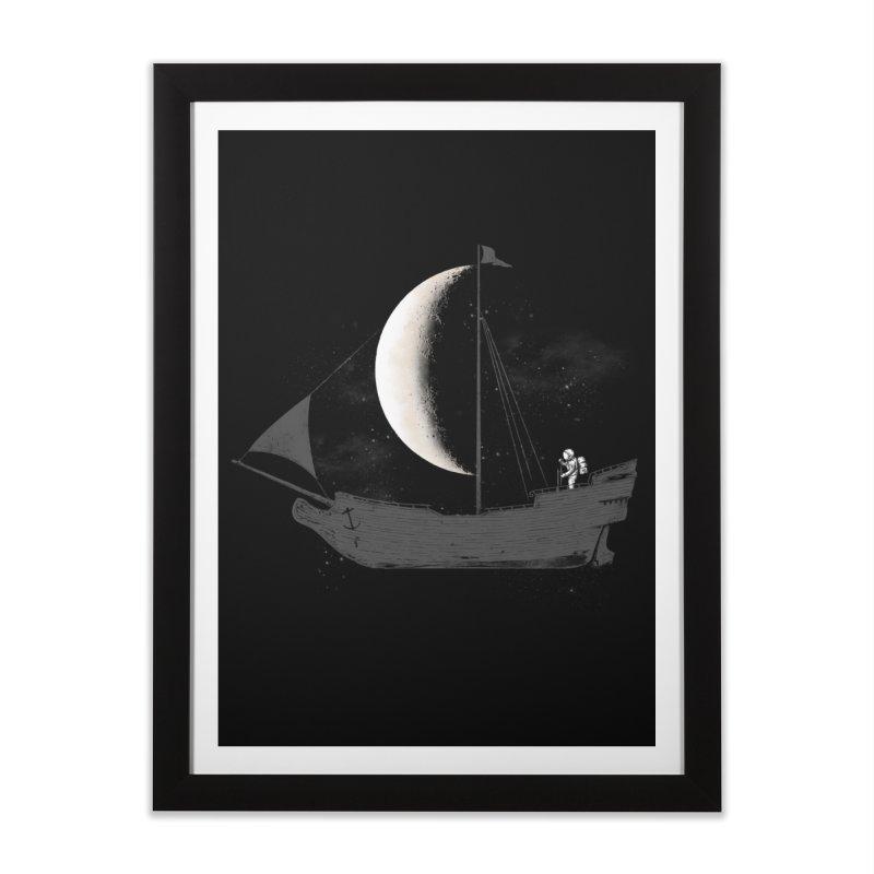 LUNAR VOYAGER Home Framed Fine Art Print by alchemist's Artist Shop