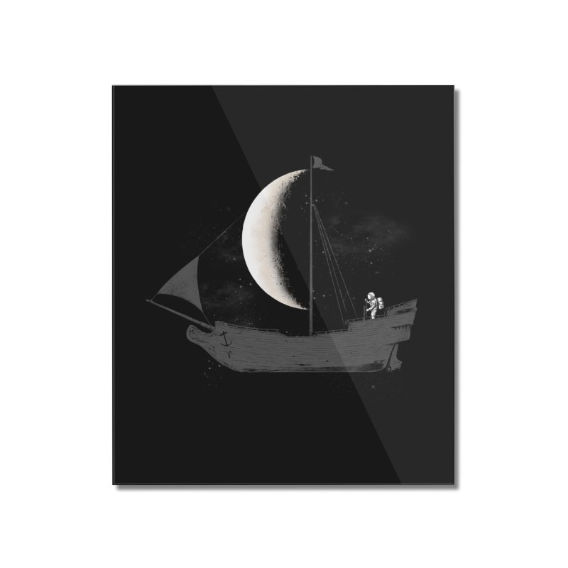 LUNAR VOYAGER Home Mounted Acrylic Print by alchemist's Artist Shop