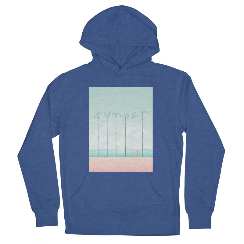 PALM SUMMER Women's French Terry Pullover Hoody by alchemist's Artist Shop