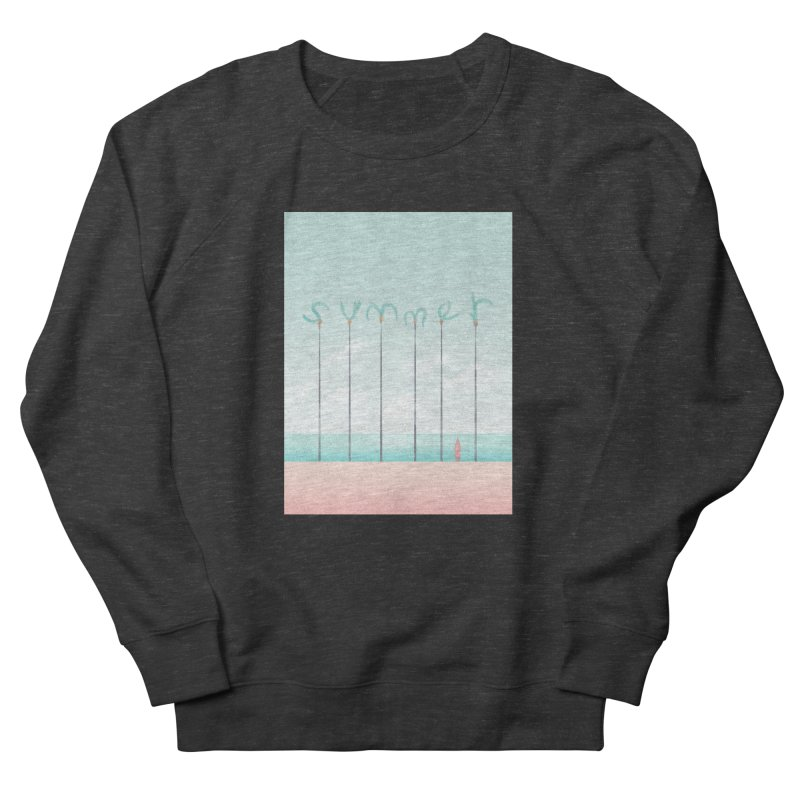 PALM SUMMER Women's French Terry Sweatshirt by alchemist's Artist Shop