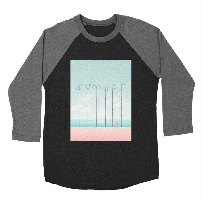 PALM SUMMER Women's Baseball Triblend Longsleeve T-Shirt by alchemist's Artist Shop