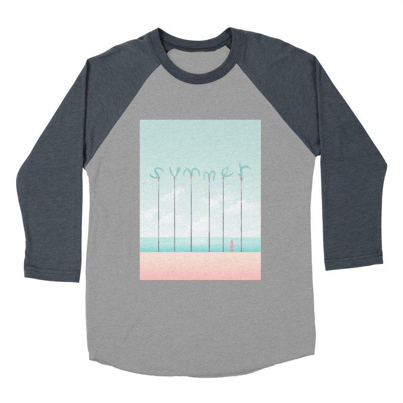 PALM SUMMER Men's Baseball Triblend Longsleeve T-Shirt by alchemist's Artist Shop