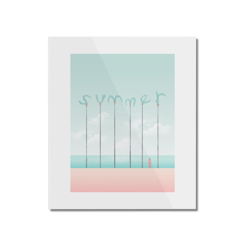 PALM SUMMER Home Mounted Acrylic Print by alchemist's Artist Shop