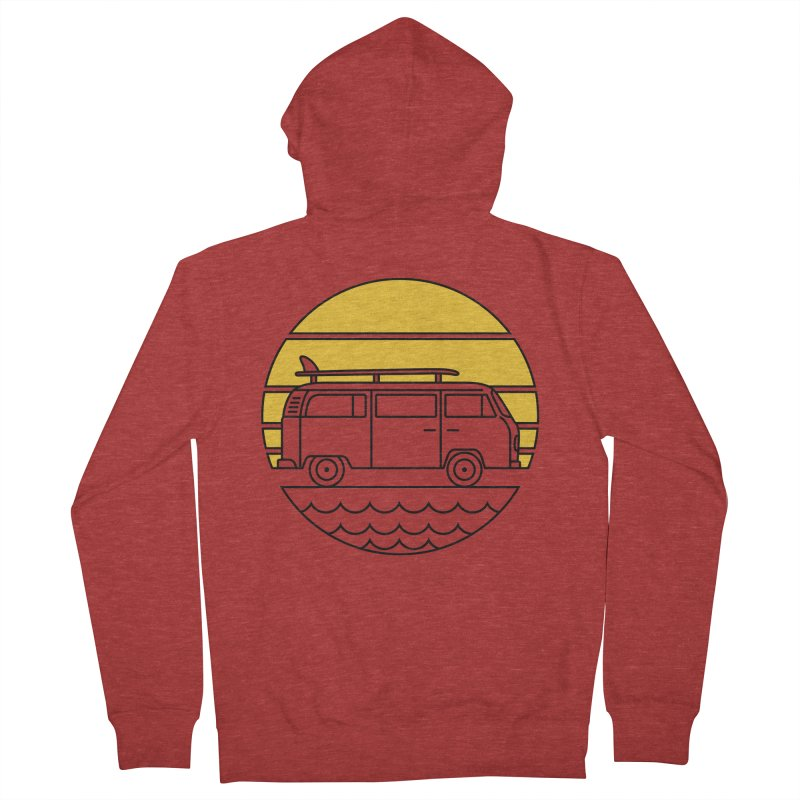 ROAD TRIP Women's French Terry Zip-Up Hoody by alchemist's Artist Shop