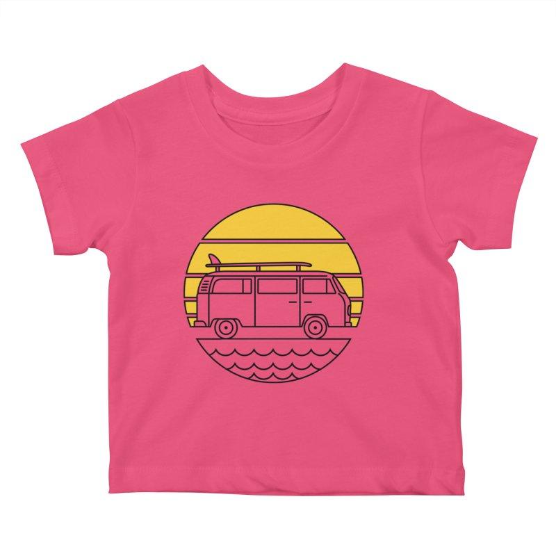 ROAD TRIP Kids Baby T-Shirt by alchemist's Artist Shop