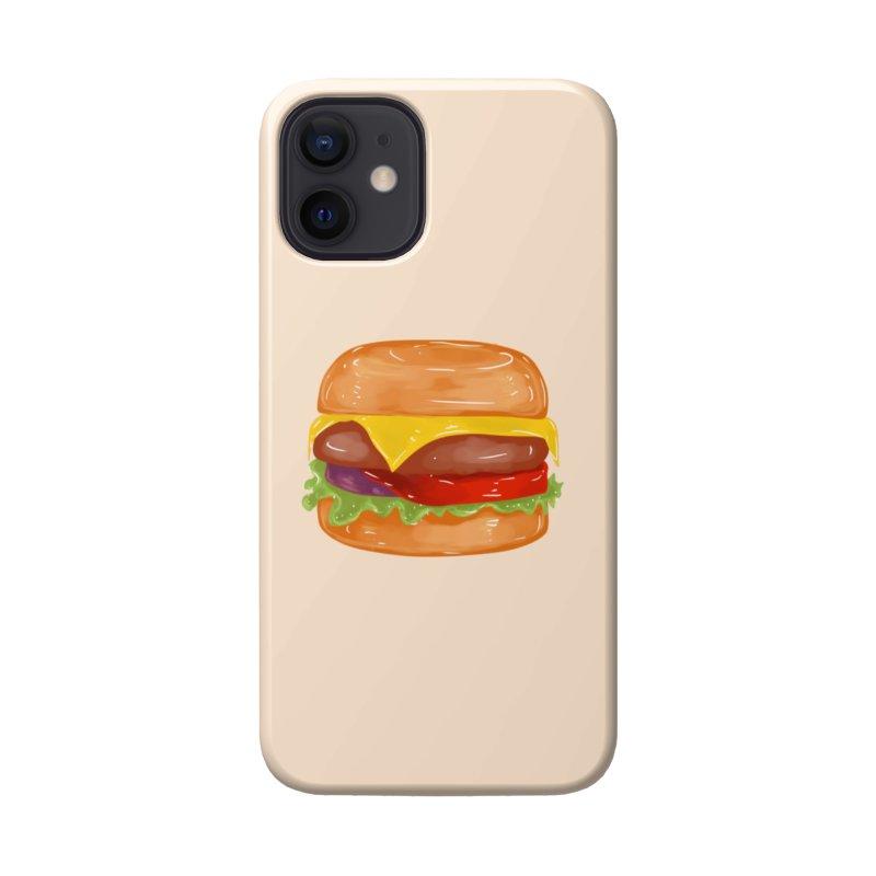 Cheeseburger Accessories Phone Case by Aidadaism