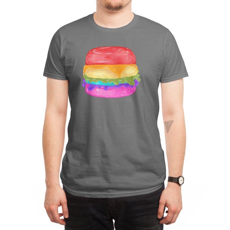 Rainbow Burger Men's T-Shirt by Alchemy Mellow
