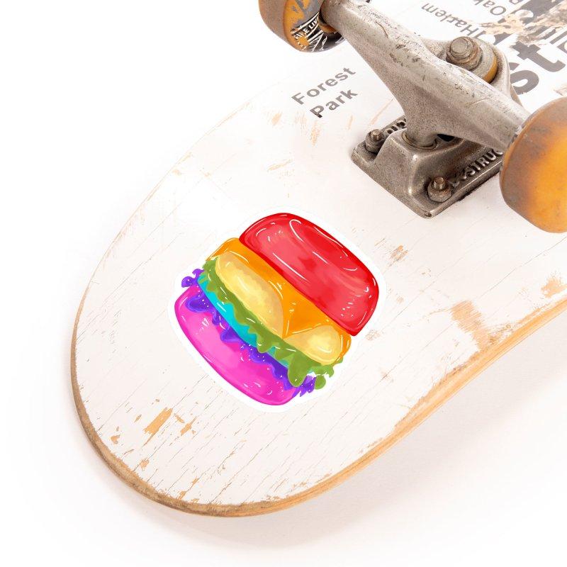 Rainbow Burger Accessories Sticker by Alchemy Mellow