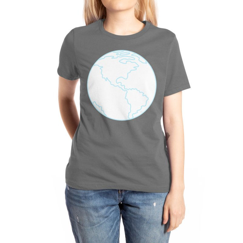 Blue Outline Earth Women's T-Shirt by Aidadaism
