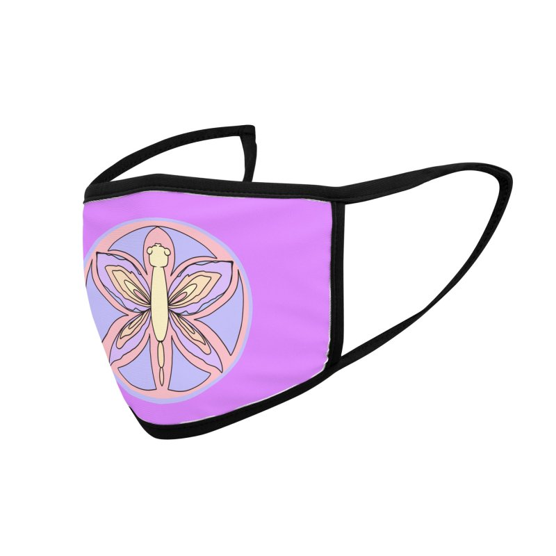 Dragonfly Goddess Sigil Accessories Face Mask by Aidadaism