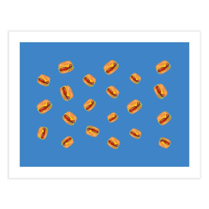 Cheeseburger Home Fine Art Print by Aidadaism