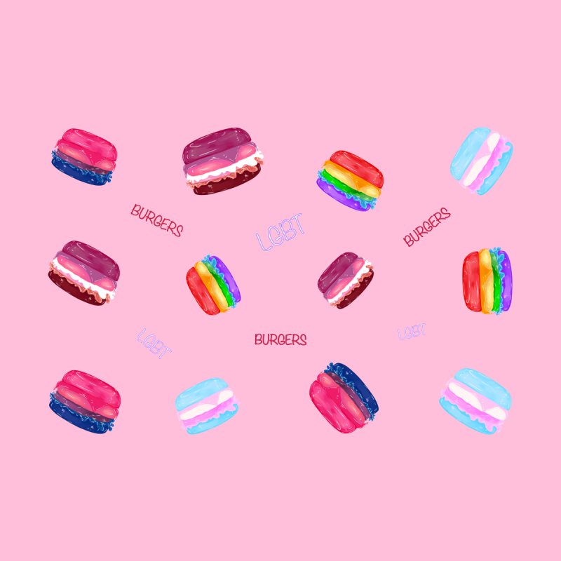 LGBT+ Burgers and Words Accessories Phone Case by Aidadaism