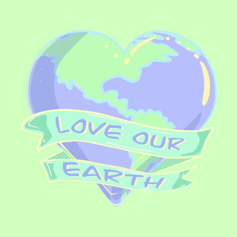 Love Our Earth - Heart Earth Kids T-Shirt by Aidadaism