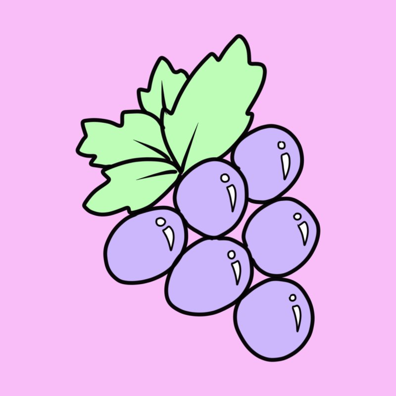 Grape Women's T-Shirt by Aidadaism